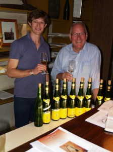 With David Ling at Hugel following a portfolio tasting.